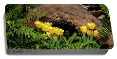 Portable Battery Charger featuring the photograph Woodland Tulip Garden by Tom Mc Nemar