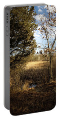 Woodland View  Portable Battery Charger by Kimberly Mackowski