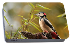 Woodpecker 3 Portable Battery Charger by Heike Hultsch