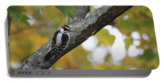 Woodpecker And Autumn Portable Battery Charger