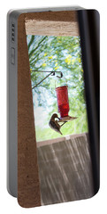 Woodpecker Having A Drink Portable Battery Charger