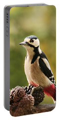 Woodpecker In Winter Portable Battery Charger