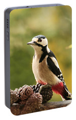 Woodpecker In Winter Portable Battery Charger by Heike Hultsch