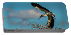 Woodstork In Flight Delray Beach Florida Portable Battery Charger