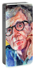 Woody Allen Portrait Painting Portable Battery Charger