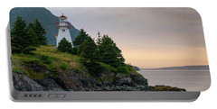 Woody Point Lighthouse - Bonne Bay Newfoundland At Sunset Portable Battery Charger by Art Whitton