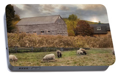 Portable Battery Charger featuring the photograph Woolen Fields by Robin-Lee Vieira
