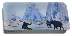 Woolly Mammoth In Danger Portable Battery Charger