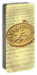 Word Art Of Sagittarius Portable Battery Charger
