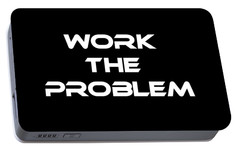 Work The Problem The Martian Tee Portable Battery Charger by Edward Fielding