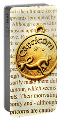 Words Of Alignment In Capricorn Portable Battery Charger
