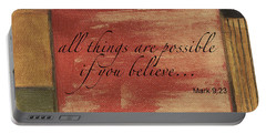 Words To Live By Believe Portable Battery Charger