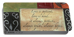 Words To Live By Love Portable Battery Charger