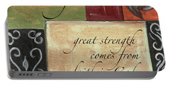 Words To Live By Strength Portable Battery Charger