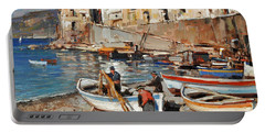 Work Never Ends For Amalfi Fishermen Portable Battery Charger
