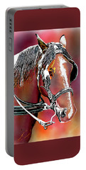 Workhorse Portrait Painting I Portable Battery Charger