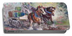 Working Clydesdale Pair, Victoria Breweries. Portable Battery Charger