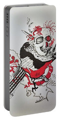 Portable Battery Charger featuring the drawing World Down-side-up by Kevin F Heuman