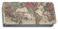 World In Mercator's Projection Portable Battery Charger