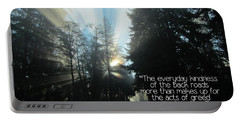 Portable Battery Charger featuring the photograph World Kindness Day by Peggy Hughes