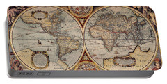 World Map 1636 Portable Battery Charger by Photo Researchers