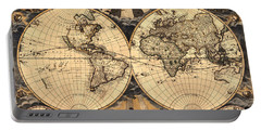 World Map 1666 Portable Battery Charger by Andrew Fare