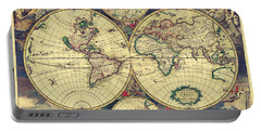World Map 1689 Portable Battery Charger