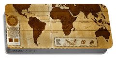 World Map Of Coffee Portable Battery Charger by David Lee Thompson