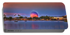 World Showcase Lagoon Sunset Mp Portable Battery Charger