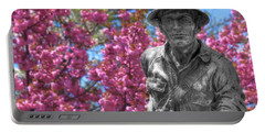 Portable Battery Charger featuring the photograph World War I Buddy Monument Statue by Shelley Neff