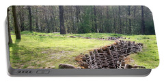 Portable Battery Charger featuring the photograph World War One Trenches by Travel Pics