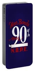 Portable Battery Charger featuring the mixed media World War Two - War Bonds  by War Is Hell Store
