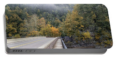 Worlds Ends Exit Road In The Fall Portable Battery Charger