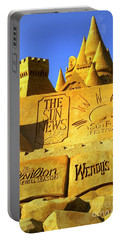 Worlds Largest Sand Castle Sun News Portable Battery Charger by Bob Pardue