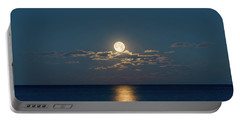 Worm Moon Over The Atlantic Portable Battery Charger