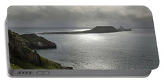 Portable Battery Charger featuring the photograph Worms Head, Rhossili Bay, South Wales by Perry Rodriguez