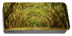 Wormsloe Plantation Oaks Portable Battery Charger by Priscilla Burgers
