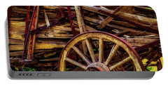 Worn Western Wagon Portable Battery Charger