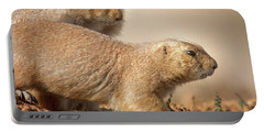 Portable Battery Charger featuring the photograph Worried Prairie Dog by Robert Frederick