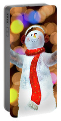 Worshiping Snowman Portable Battery Charger