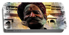 Wow Moustache Jaisalmer Fort India Rajasthan Portable Battery Charger