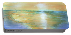 Wow Sunset Portable Battery Charger by Debbie Lewis
