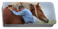 Wrangler Jeans And Belgian Horse Portable Battery Charger