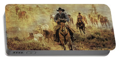 A Dusty Wyoming Wrangle Portable Battery Charger