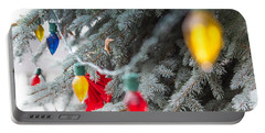 Portable Battery Charger featuring the photograph Wrap A Tree In Color by Lora Lee Chapman