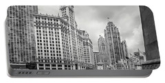 Portable Battery Charger featuring the photograph Wrigley Building Chicago by Adam Romanowicz