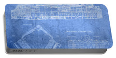 Wrigley Field Chicago Illinois Baseball Stadium Blueprints Portable Battery Charger by Design Turnpike
