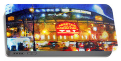 Wrigley Field Home Of Chicago Cubs Portable Battery Charger