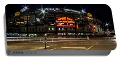 Wrigley Field Marquee At Night Portable Battery Charger