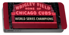 Wrigley Field Marquee Cubs World Series Champs 2016 Front Portable Battery Charger